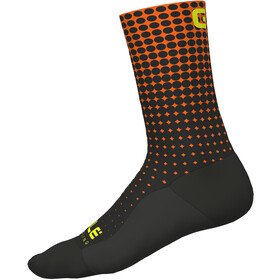 Alé Cycling Dots Calcetines, nero-arancio fluo/black-fluo orange